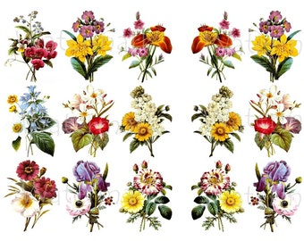 Flower WaterSlide Decals, Decorate Flame-less Candles, Soap, Glass, Home Decor, Furniture, Jewelry, Craft Projects, Scrapbooks-DS115