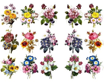 Flower Water-Slide Decals, Decorate Flame-less Candles, Soap, Glass, Home Decor, Furniture, Magnets, Wedding Crafting, Scrapbooks-DS106