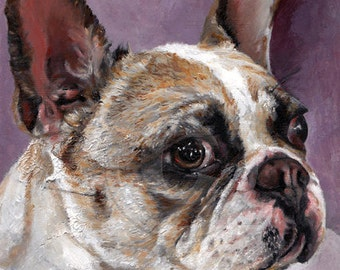CUSTOM DOG PORTRAIT in Oil - Dog Oil Portrait from Photo on Canvas - Personalized Pet Portrait - Dog Portraits - Custom Dog Painting