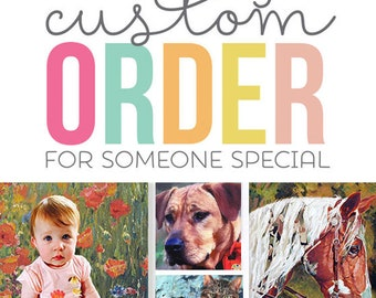 CUSTOM PAINTED PORTRAITS - People and Pet Portraits painted from your Photo - Personalized Portraits