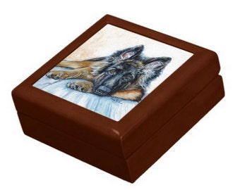 German Shepherd Keepsake / Jewelry Box