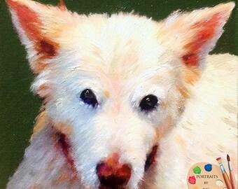 Custom Pet Portraits - Pet Paintings - Oil Portrait of Pets - Portraits by NC