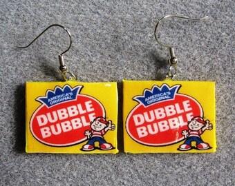 The ORIGINAL Dubble Bubble Retro Gum Kitsch Dangle Polymer Clay Junk Food Earrings Hypo Allergenic Nickel-Free