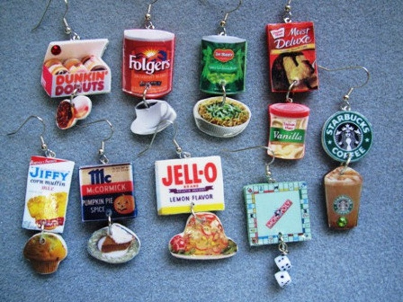 The ORIGINAL Cheetos Flamin Hot Kitsch Dangle Polymer Clay Junk Food Earrings Nickle-Free
