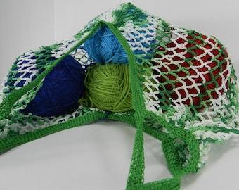 Cotton String Tote, Reusable Shopping Bag,  Farmer's Market, Beach or Book Bag