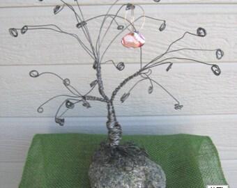 Wire Tree on Rock Sculpture Earring Display - MTD