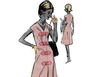 60s uncut Spadea Mod Designer Dress vintage pattern 35-25-36 Aline Dress pattern Mail Order pattern Spadea 312 Spadea NS-312