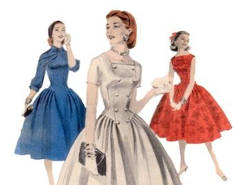 des années 60 non-coupe princesse Seam robe motif vintage robe jupe pleine 32-26-35 sablier patron robe avance 3061