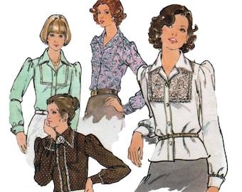 70s uncut Boho Blouse pattern Puffy Sleeve Blouse pattern Prairie Blouse pattern vintage 36-28-38 Butterick 3963