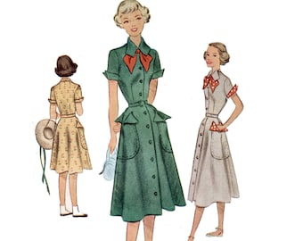 40 s non-coupe Girl Scout Uniform patron robe de l'air neuf filles robe motif Vintage 28-24-32 XS buste 28 mccalls 7800 mccall 7800