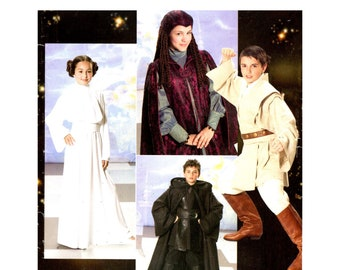 Star Wars Costume pattern uncut Kids Costume pattern MultiSize 7-14 Chest 26-32 Princess Leia Costume Padme Anakin Cosplay Simplicity 0578