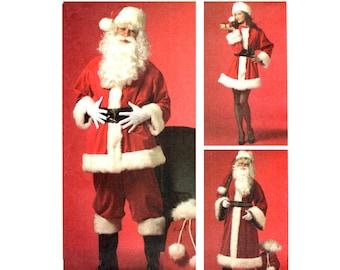 3X Santa Claus Costume Pattern uncut Size XL-XXXL Chest 46-56 Plus Size Father Christmas Cosplay McCalls 5550