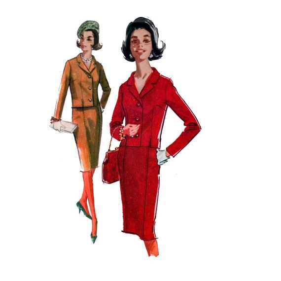 Jacke Muster Ungeschnitten 60er Jahre Chanel Stil Anzug Muster Etsy