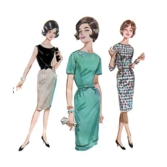 Dress Pattern Sheath Dress Pattern 40s Princess Seam Dress Etsy Simple Princess Seam Dress Pattern