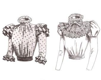 Edwardian Blouse Pattern uncut Lace Collar MultiSize 6-10 Bust 30.5-32.5 Victorian Blouse Cosplay Butterick 3417