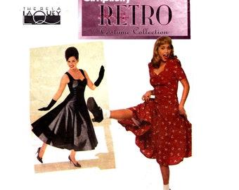 Dress Pattern uncut Swing Dance Dress pattern Full Skirt Dress MultiSize 4 6 8 Gored Skirt Dress pattern Cosplay costume Simplicity 8629