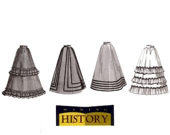 Edwardian Skirt Pattern uncut Tiered Skirt MultiSize 12-16 Waist 26.5-30 Victorian Skirt Cosplay Butterick 3417