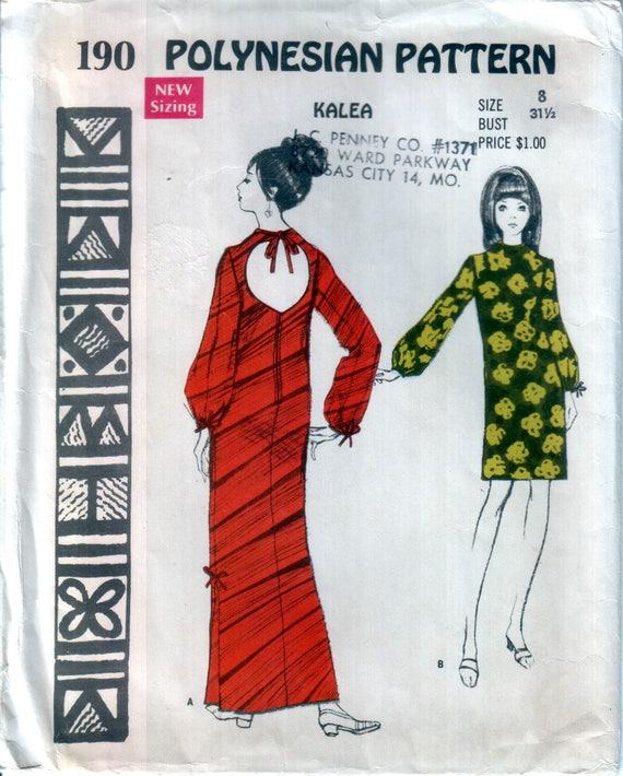 Kleid Muster Hawaii Kleid Muster der 70er Jahre Muu Muu Muster | Etsy