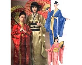 Kimono Pattern uncut Obi pattern Multi-Size 4-18 Bust 29.5-40 Plus Size Gilbert & Sullivan Theatrical McCalls 4953
