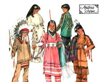 Ribbon Dress Pattern uncut Pow Wow Regalia MultiSize 3-8 Kids Native American Costume Simplicity 9145