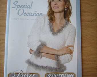 Bernat Special Occasion designs to knit & crochet ladies tops and shawls