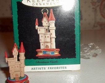 Hallmark Miniature Christmas Castle Ornament 1993 Artist Favorites in Box