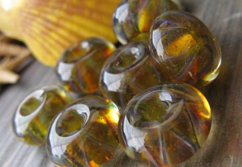 AGB boro glass lampwork beads Born Praying...