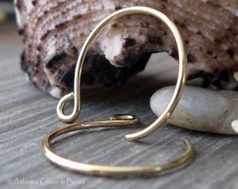AGB gold filled artisan fancy earring findings handmade Samba 1 pair