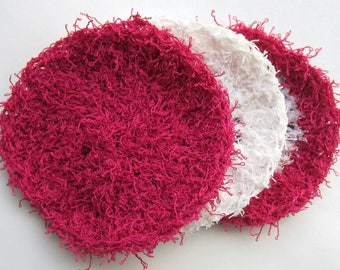 Facial Scrubbies, Face Scrubbies, Exfoliating pads, cleansing pads // Comes in Cotton or Polyester // Many colors to choose from