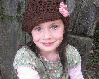 Organic Cotton Hat Newsboy Cap Sizes 5T through Adult You Choose Size and Colors