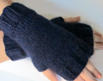 Fingerless Gloves, fingerless Mittens, Arm warmers// Hand knitted with Baby Alpaca // Sizes from toddler to Adult  // Comes in Other Colors