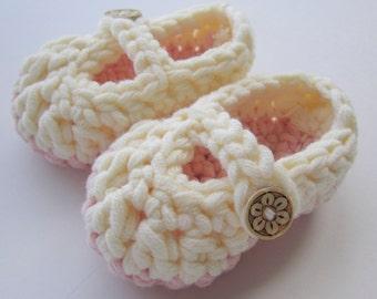 Crochet Baby Booties Mary Janes