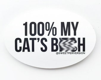 Cat Sticker. Vinyl Sticker. VSCO Sticker. Hydro Sticker.