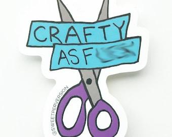 Crafty As F*ck Vinyl Sticker.