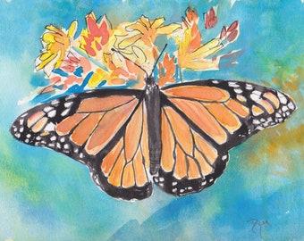 Monarch Butterfly Original Watercolor