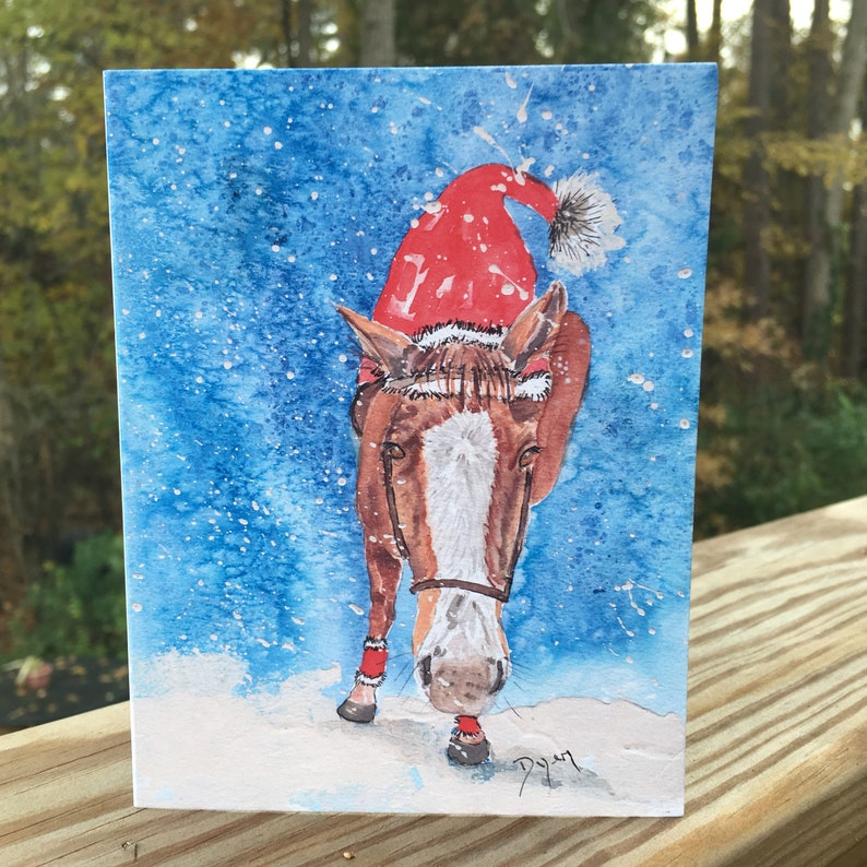 Holiday Horse Note Cards Box of 10