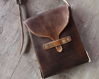 Mens leather Bag - Small Crossbody Leather Bag - Genuine Leather Small Bag - Unisex Leather Small Shoulder Bag