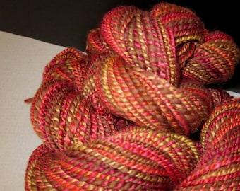 Handspun Colorado Camel Merino Silk Yarn  (Come Together) 260 yds 238 meters