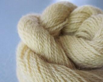 Alpaca Colo Organic Handpainted Yarn (Buttery Yellow) 100 yds 91.4 meters