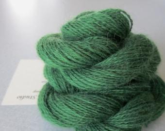 Alpaca Colo Organic Handpainted Yarn (Emerald Green) 100 yds 91.4 meters