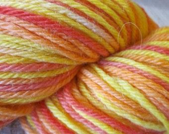 Handpainted Baby Alpaca Yarn (Fruit Salad) 100 yds 91.4 grams