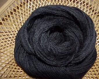 Alpaca Yarn Organic Natural Black ( Raven ) 100 yds 91.4 meters