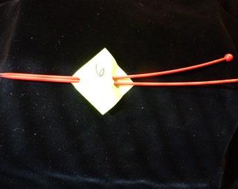Plastic Size 6  Knitting Needles Vintage