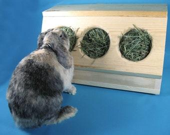 SaveABunny's Three Hole Hay Saver Box