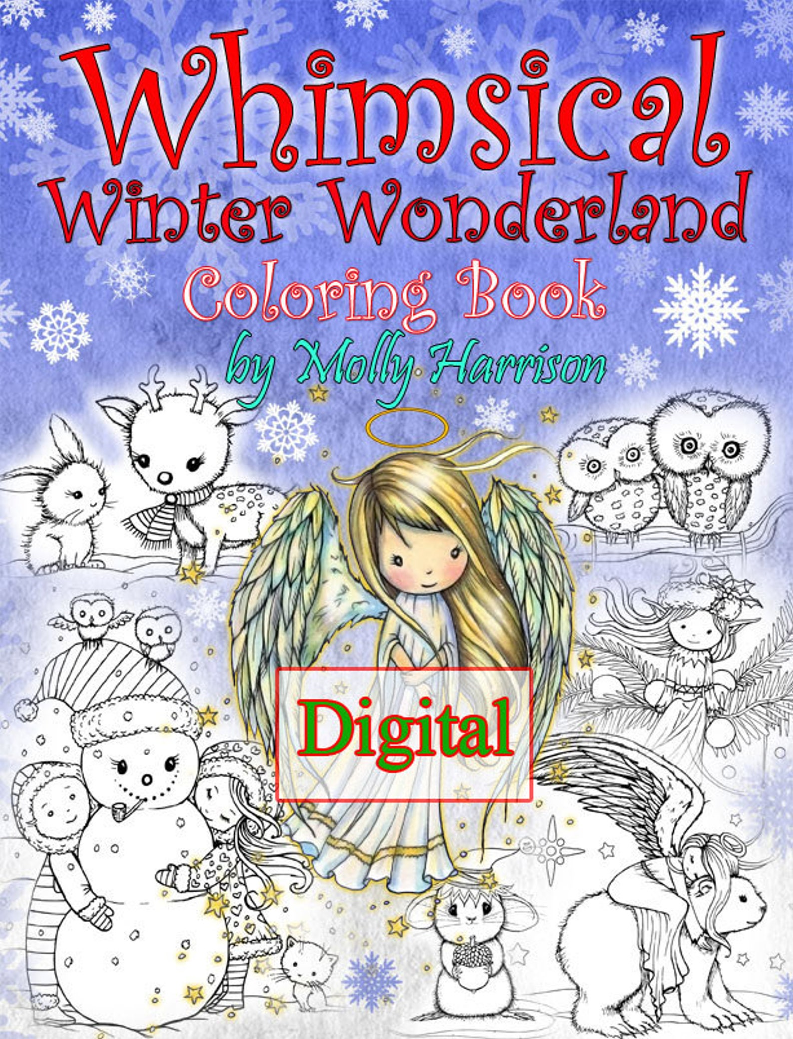 Whimsical Winter Wonderland Etsy Coloring Book by Molly Harrison