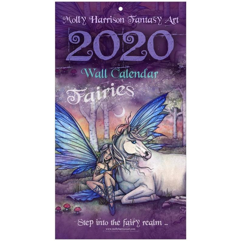Fairy Calendar  Molly Harrison Fantasy Art Fairy 2020 Large image 0