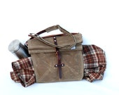The Musette, waxed canvas travel bag