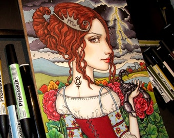 Scorpio - original pen and ink illustration by Tanya Bond