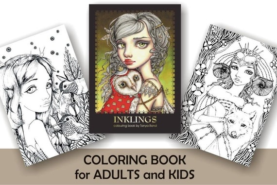 COLORING Colouring Book For Adults And Children INKLINGS