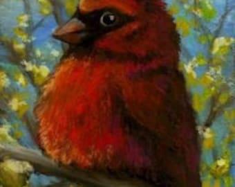 Cardinal - 5x7 ART PRINT of painting by Tanya Bond